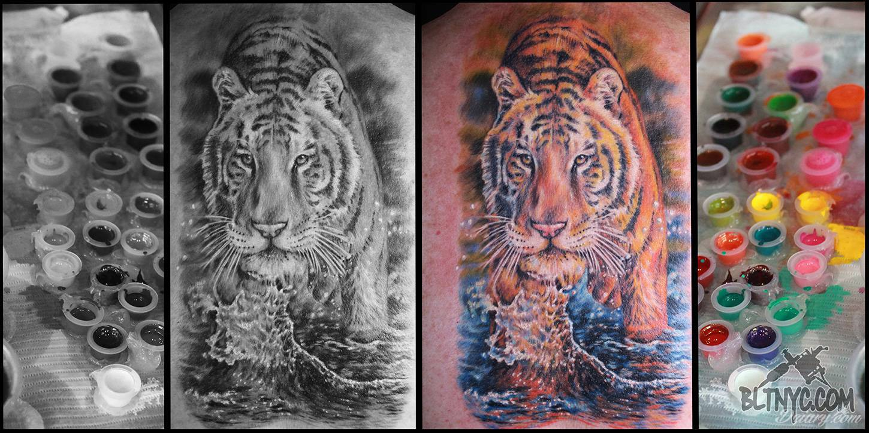 Kolorowy Czy Czarny Tatuaż