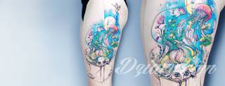 Chodzi Ci po głowie tatuaż wykonany w nietuzinkowym stylu Watercolor?