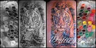 Kolorowy czy czarny tatuaż?