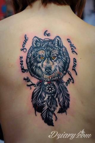 My first tattoo. My little wolf.