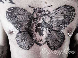 Otto D`Ambra i jego surrealistyczne tatuaże