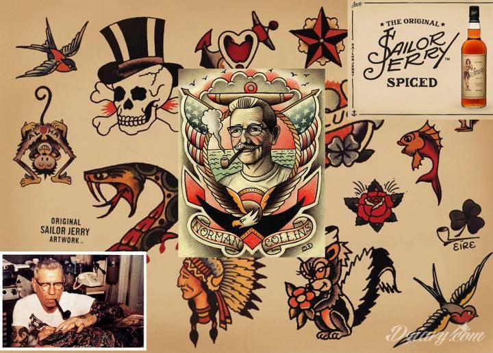 Sailor Jerry, a właściwie Norman Keith Collins wybitny amrekykański tatuażysta...