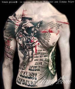 Styl tatuażu: TRASH POLKA (Realistic...