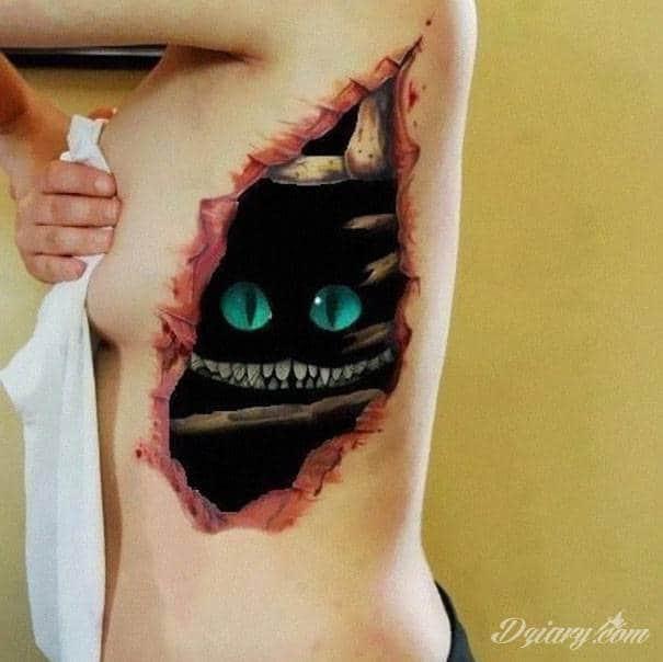Tatuażowe iluzje 3D