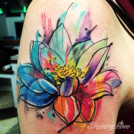 Tatuaże w stylu watercolor charakteryzują się tym, że wyglądają jakby...