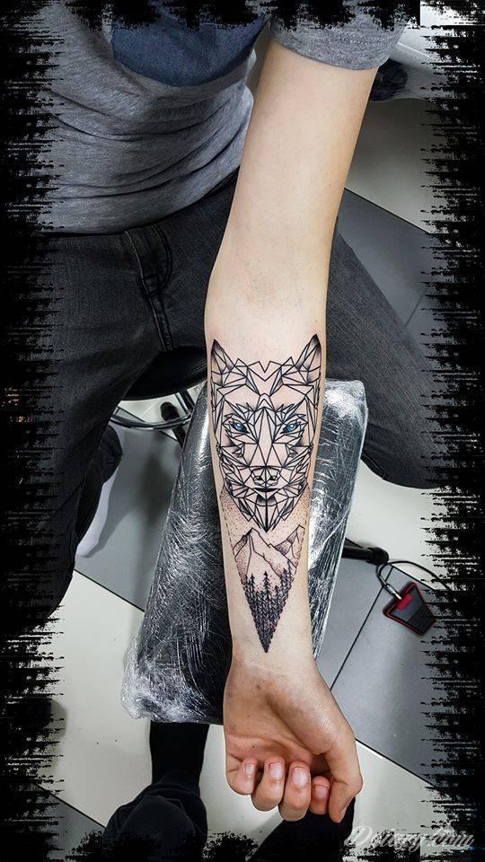 Geometric Wolf Wilk Geometryczny Forum O Tatuażu