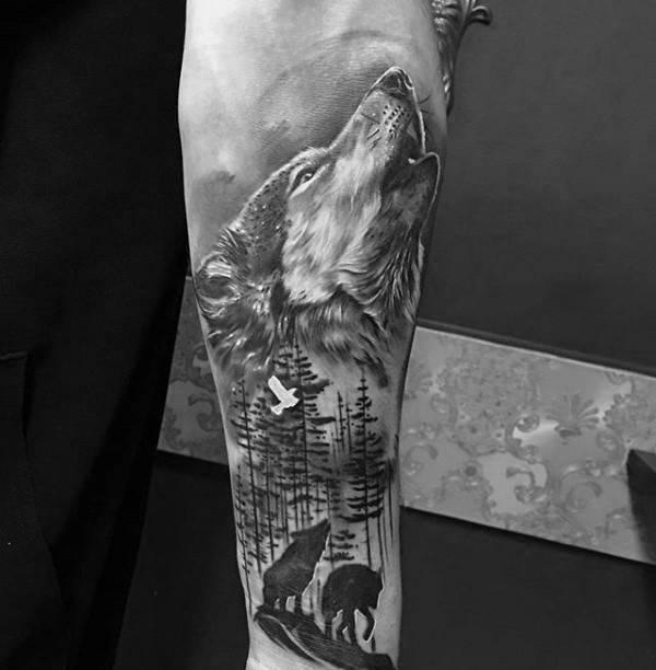 Wilk Przedramie Tatuaże Forum