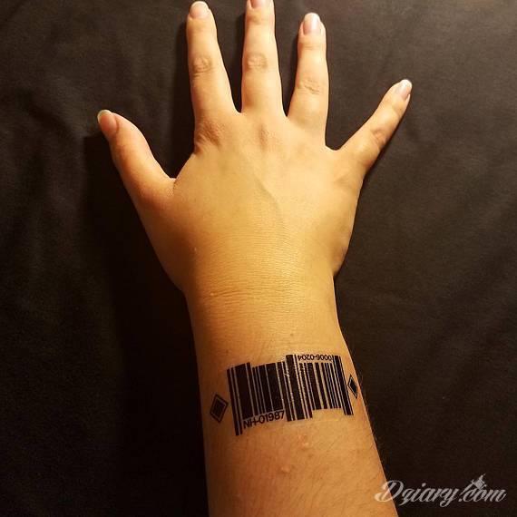 2 Dziarki Armband I Barcode Tatuaże Forum