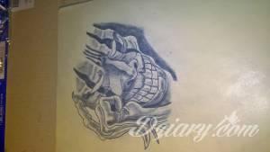 Moj pierwszy wykonany tatuaz na...