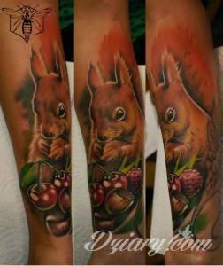 Wiewiór to mój ulubiony tatoooo
