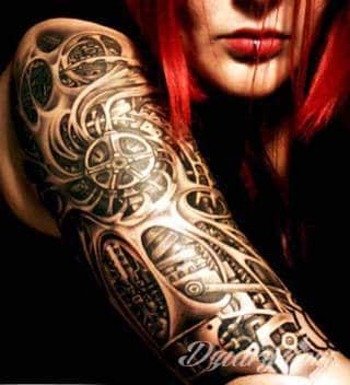 Tatuaże Biomechanika Wzory I Galeria Tatuaży