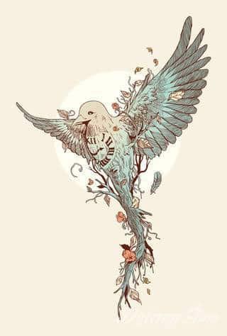 Tatuaże gołębie
