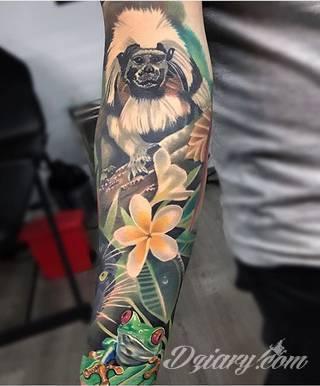 Środowisko, natura, flora i fauna - one tworzą inspirację do tatuaży nawiązujących do otoczenia nieskażonego cywilizacją. Grafiki opierające się na naturze to zawsze imponująca kolorystyka, która oczarowuje drobiazgowością zastosowanego wzornictwa.
