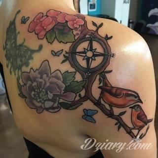 Tatuaże Kompas Wzory I Galeria Tatuaży