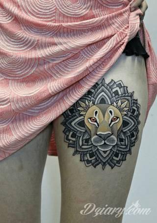 Tatuaże Lew Wzory I Galeria Tatuaży