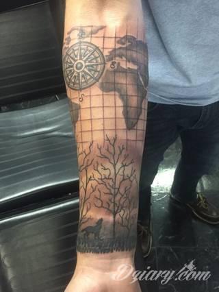 Tatuaże mapy