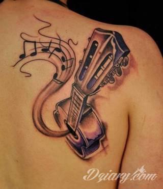 Tatuaże dla miłośników dźwięków w każdej postaci. Klucze wiolinowe, nuty w fantazyjnych kształtach, ale również słynne cytaty z najpopularniejszych utworów. Ciekawym wariantem są motywy słuchawek podkreślających związek z muzyką.