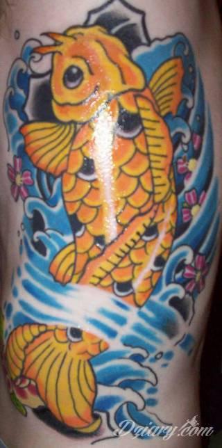 Tatuaże z rybą koi to symbolika dążenia - wytrwałego kierowania się w określoną stronę za wszelką cenę i niezależnie od okoliczności. Rysunki z rybą Koi to jednak również ogromna mnogość barw; tworzony w ten sposób karp staje się prawdziwie fantazyjną grafiką na ciele.