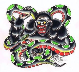 Oplatające ciało węże od lat należą do jednego z najciekawszych motywów tatuaży. Grafiki na ciele prezentujące wijące się węże dają ogromne możliwości wizualne. Stanowią wyjątkowo spójną całość z ciałem.