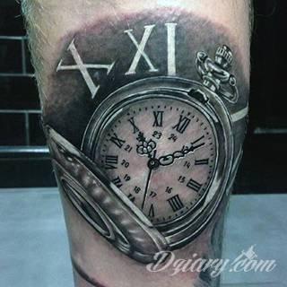 Tatuaże zegar