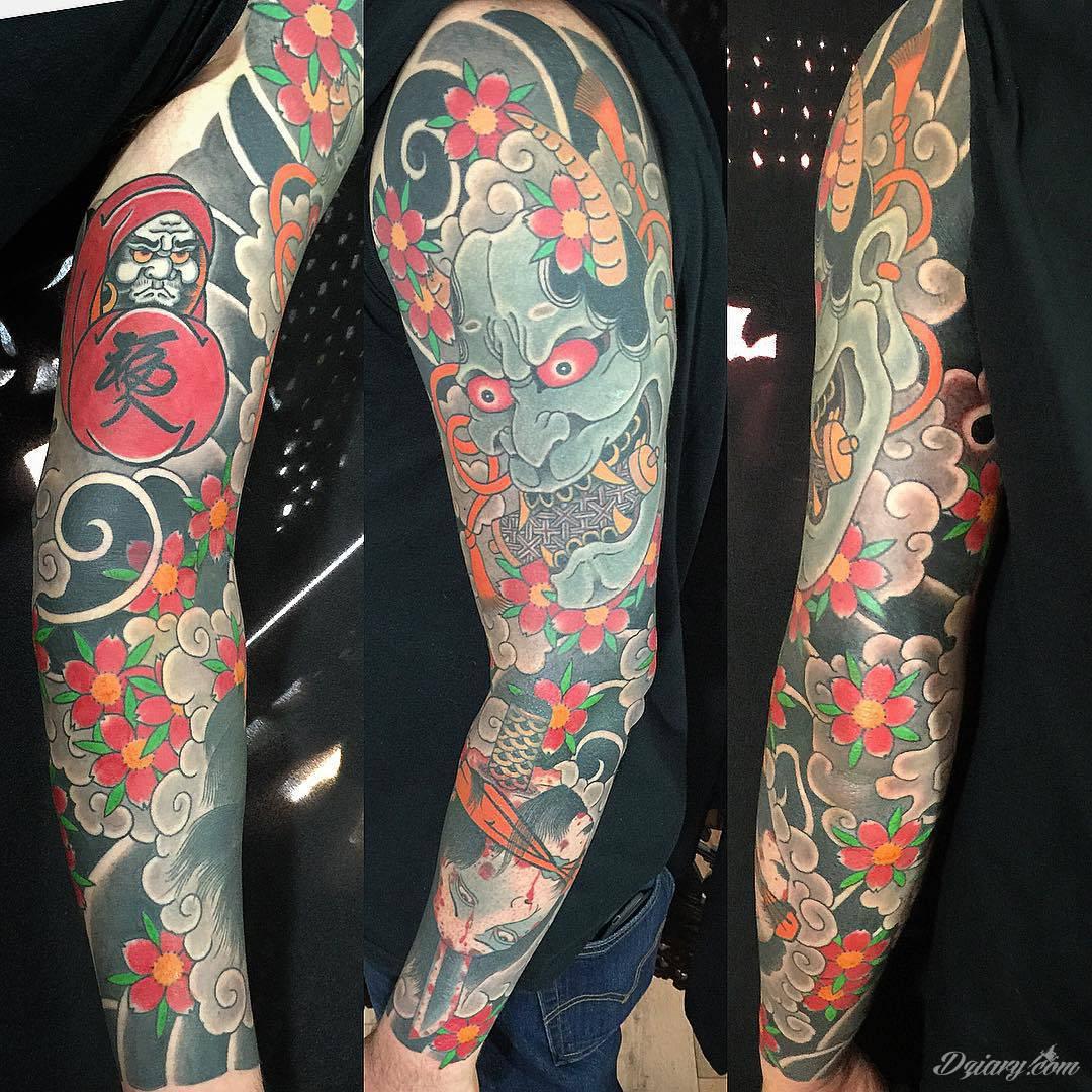 Tatuaże inspirowane Japonią oddają klimat kraju kwitnącej wiśni. Niepokoją kolorami, relaksują tonacją, pobudzają agresją płynącą wprost z niebezpiecznych oczu japońskich tygrysów.