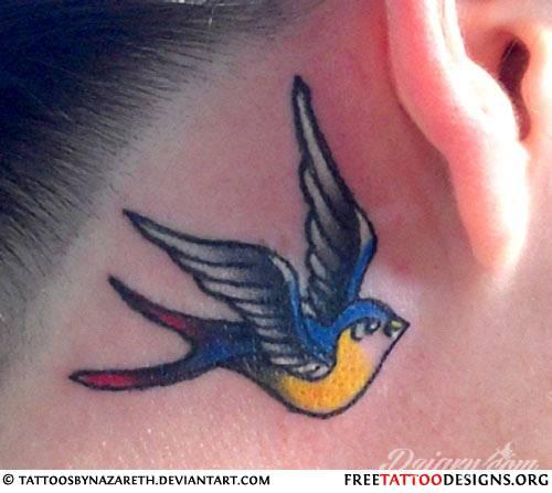 Tatuaż jaskółka