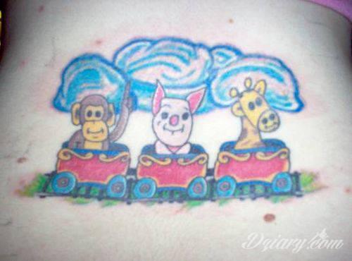 Tatuaż kreskówki