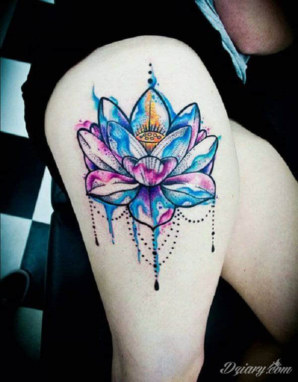 Wzory Tatuaży Kwiat Lotosu Inspiracje Z Kategorii Tatuaże Kwiat