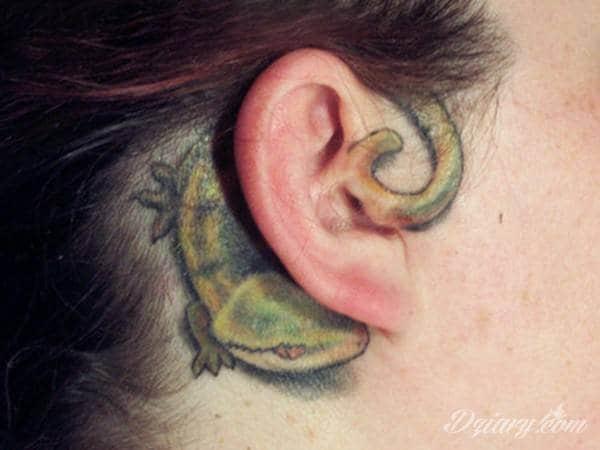 Tatuaż ucho