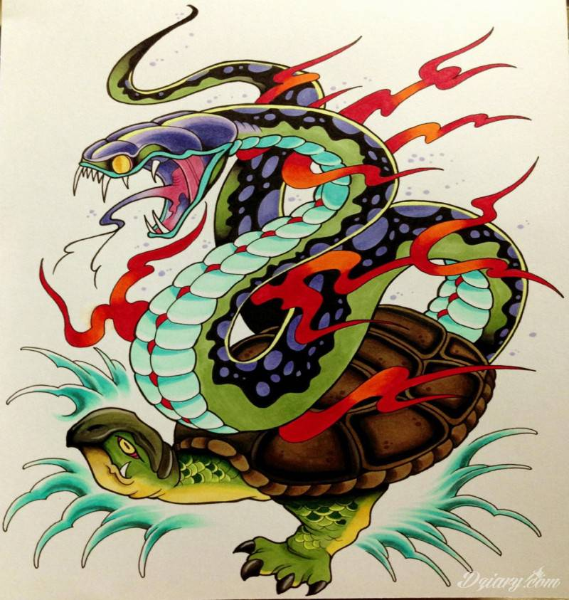 Tatuaż wąż