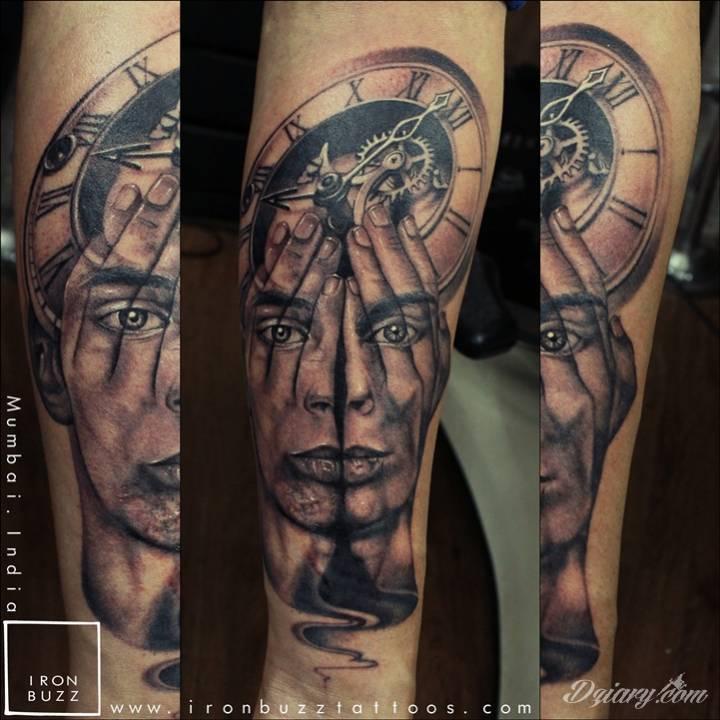 Tatuaż Abstrakcyjny tatuaż dłoni...