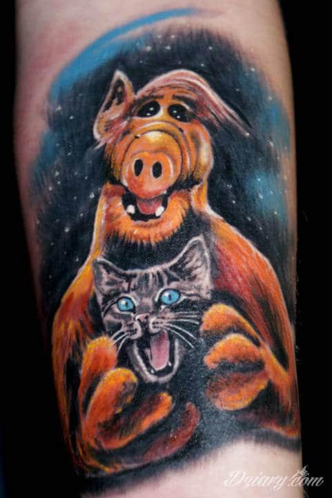 Tatuaż alfik na przedramieniu:)