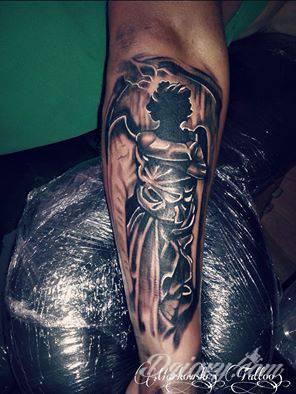 Tatuaż anioł wykonanie Robert...