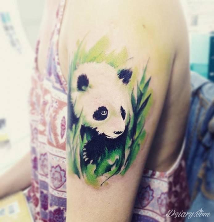 Bądź jak panda, biały, czarny i azjata.