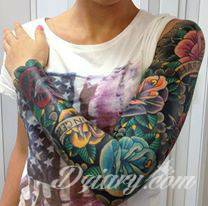 Tatuaż Bardzo kolorowy tatuaż...
