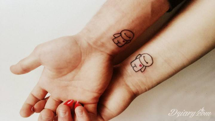 Tatuaż Bartuś kocham Cie...