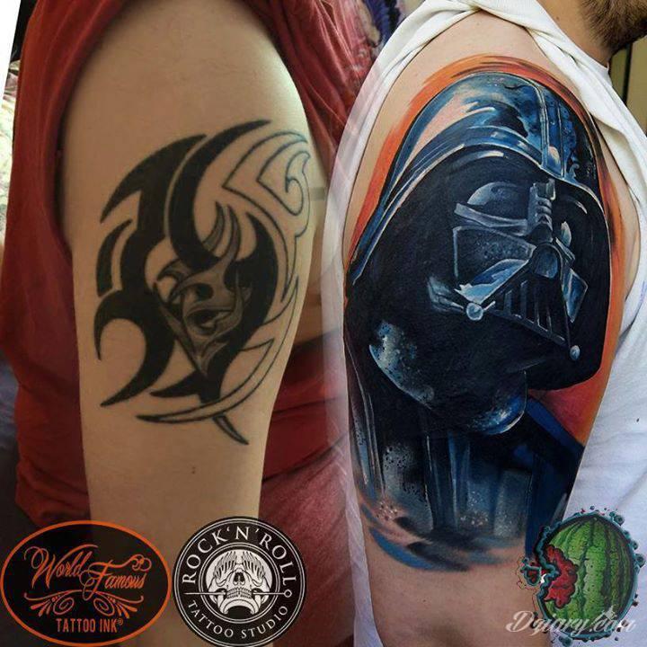 cover od Dera z Rock'n'Roll Tattoo and Piercing Wrocław! Niech moc będzie z wami !  Done with World Famous Tattoo Ink
