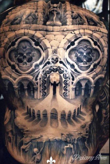 Tatuaż Czaszka czy brama...
