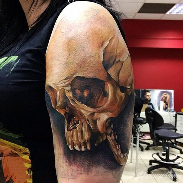 Tatuaż Czaszka na barku...