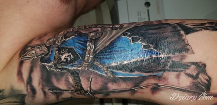Tatuaż Część ręki z...
