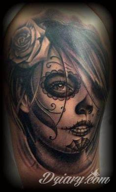 Day of the Dead Pin Up Girl Tattoos