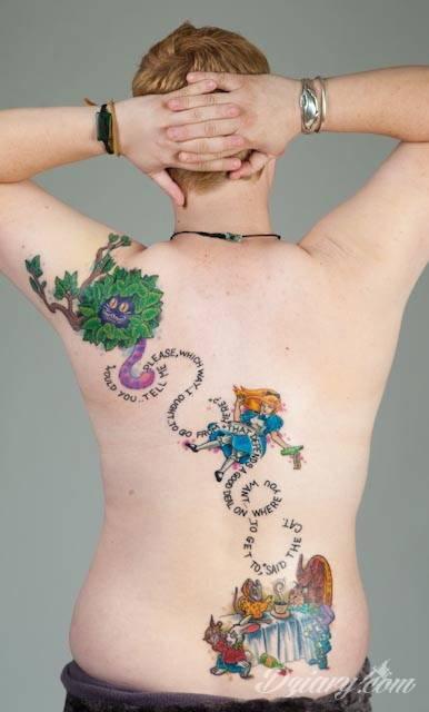 Tatuaż Dla fanów Alicji..