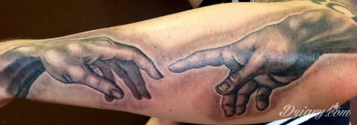 Tatuaż Dłonie Adama i...