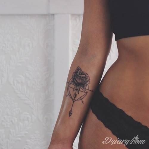 Dość Delikatny Tatuaż Przy Zgięciu Ręki Interesuj