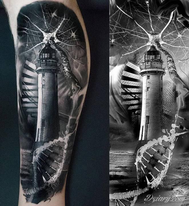 Tatuaż Fale zła uderzają...