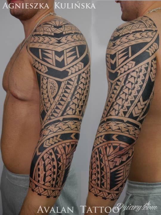 Freehand Maori Wykonane Przez Avalan Tattoo W Krakowie