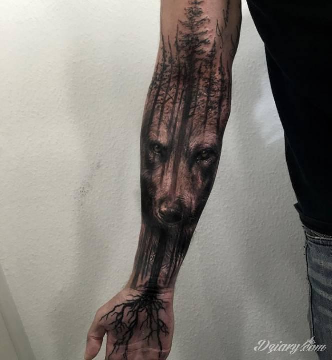Tatuaż Grubość korzeni stanowi...