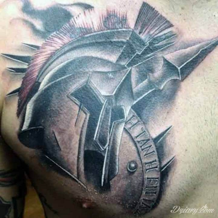 Tatuaż Hełm legionisty z...