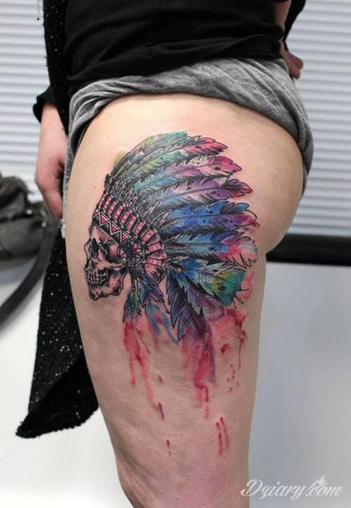 Tatuaż Indiańskie wierzenia mówiły,..