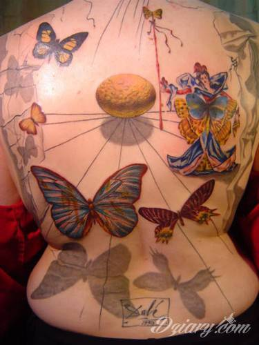Tatuaż Inspirowane Salvadorem Dali.